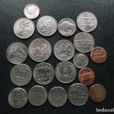 Monedas antiguas de América: CONJUNTO DE MONEDAS DE ESTADOS UNIDOS DE AMERICA UN DIME DE PLATA ENTRE ELLAS. Lote 162141506