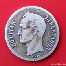 Monedas antiguas de América: VENEZUELA. MONEDA DE 2 BOLÍVARES. 1929. PLATA.. Lote 162167314