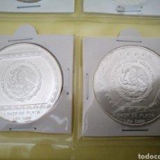 Monedas antiguas de América: 2 ONZAS PLATA PURA MÉXICO RARAS. Lote 162394740