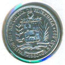 Monedas antiguas de América: VENEZUELA 1 BOLIVAR 1960 ( MBC+ ) Y # 37A - PLATA. Lote 162815954