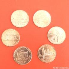 Monedas antiguas de América: (NM-01) LOTE 6 MONEDAS DIFERENTES ONE CENT DOLAR 2009. Lote 162917837