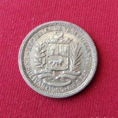Monedas antiguas de América: VENEZUELA. 5 GRMS. 1965. PLATA. Lote 163333144