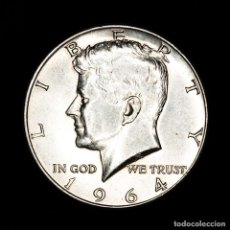 Monedas antiguas de América: ESTADOS UNIDOS - 1/2 DÓLAR, 1964, KENNEDY HALF DOLLAR PLATA. Lote 164083444