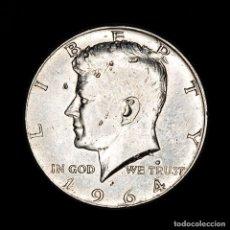 Monedas antiguas de América: ESTADOS UNIDOS - 1/2 DÓLAR, 1964, KENNEDY HALF DOLLAR PLATA. Lote 164084540
