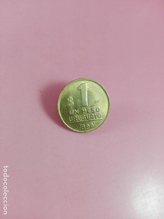 Monedas antiguas de América: MONEDA-URUGUAY-(1) UN PESO-1998-20 MM-BUEN ESTADO-VER FOTOS - Foto 2 - 164321026