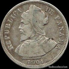 Monedas antiguas de América: PANAMA 10 CENTESIMOS DE BALBOA 1904 PLATA KM 3 ( MH 132 ). Lote 164746053