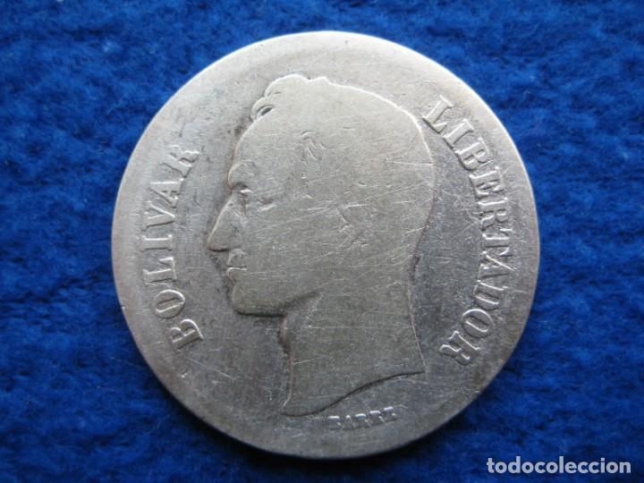 Monedas antiguas de América: Moneda 2 bolivares. Año 1936. Plata 835 ml. Estados Unidos de Venezuela (10 gramos) - Foto 2 - 164882066