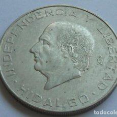 Monedas antiguas de América: MONEDA DE PLATA DE 10 PESOS DE MEXICO DE 1956, HIDALGO, PESA 28,9 GRS, PLATA 900 MM. Lote 165404282