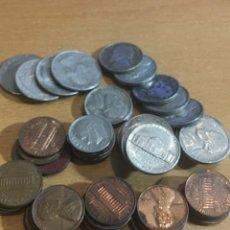 Monedas antiguas de América: LOTE DE 50 MONEDAS ESTADOS UNIDOS. Lote 165672913