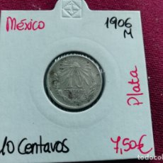 Monete antiche di America: MÉXICO. 10 CENTAVOS DE PLATA DE 1906. Lote 165722898