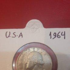 Monedas antiguas de América: 1964 USA 1/4 DÓLAR PLATA. Lote 165741593