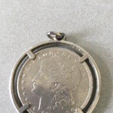 Monedas antiguas de América: DÓLAR 1821. IMITACIÓN DÓLAR ENCASTRADA EN LLAVERO. Lote 165894789
