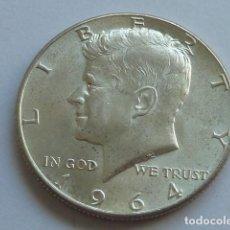 Monedas antiguas de América: MONEDA DE PLATA DE MEDIO DOLAR AMERICANO DE 1964, CECA FILADELFIA, ESTADOS UNIDOS. Lote 166132770