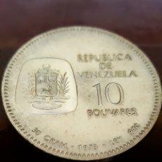 Monnaies anciennes d'Amérique: VENEZUELA 10 BOLIVARES 1973 -PLATA. Lote 206568556