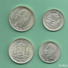 Monedas antiguas de América: PLATA-VENEZUELA. 2 MONEDAS DE 1 Y 2 BOLIVARES 1965. 15 GRAMOS DE LEY 0,835. Lote 166259610