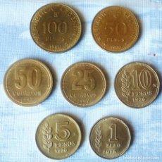 Monedas antiguas de América: LOTE DE 7 MONEDAS DE ARGENTINA. Lote 166494814