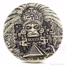 Monedas antiguas de América: MONEDA MEDALLA DE CALENDARIO MAYA - AZTECA CONMEMORANDO EL FIN DEL MUNDO.. Lote 166505970