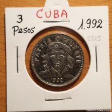 Monedas antiguas de América: EDU8 – CUBA 3 PESOS 1992, CHE GUEVARA, CALIDAD. Lote 166743202