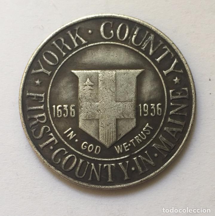 MEDIO DOLAR DE PLATA USA 1936 CONDADO DE MENTA YORK EN MAINE (Numismática - Extranjeras - América)