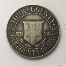 Monedas antiguas de América: MEDIO DOLAR DE PLATA USA 1936 CONDADO DE MENTA YORK EN MAINE. Lote 166749478