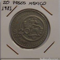 Monedas antiguas de América: 20 PESOS MEXICO 1981. Lote 167550824