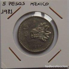 Monedas antiguas de América: 5 PESOS MEXICO 1981. Lote 167573636