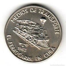 Monedas antiguas de América: CUBA 1 PESO 1983 EL FERROCARRIL - MEDIOS DE TRANSPORTE - ISLA DEL CARIBE S/C. Lote 209802820