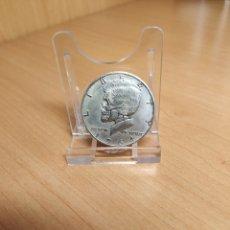 Monedas antiguas de América: MONEDA / MEDALLA FANTASÍA HOBO NIKEL 1964 KENNEDY MEDIO DÓLAR CRÁNEO MUERTO. Lote 195449860