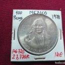 Monedas antiguas de América: MÉXICO. 100 PESOS DE PLATA DE 1978. Lote 168703328