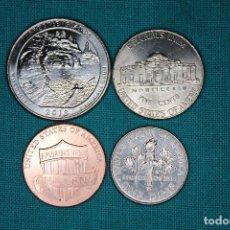 Monedas antiguas de América: LOTE USA 4 MONEDAS SIN CIRCULAR 2017 Y 2018. Lote 168759274