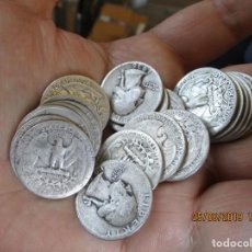 Monedas antiguas de América: CUARTO DE DOLARES DE PLATA TODAS LAS FECHAS. Lote 169299048