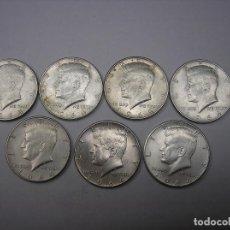 Monedas antiguas de América: USA. 7 MONEDAS DE PLATA DE 1/2 DOLAR DE 1964. PRESIDENTE KENNEDY. Lote 169449712