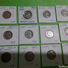 Monedas antiguas de América: USA LOTE MONEDAS 5 CENT,. Lote 169783990