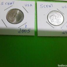 Monedas antiguas de América: USA LOTE 4 MONEDAS 5 CENT. Lote 169784377