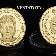 Monedas antiguas de América: MEDALLA ORO TIPO MONEDA HOMENAJE AL 25 ANIVERSARIO DE LA MUERTE DE JHON LENNON - LOS BEATLES - Nº1. Lote 169823032