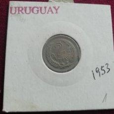 Monedas antiguas de América: URUGUAY. MONEDA DE 2 CENTÉSIMOS. 1953. Lote 170378308