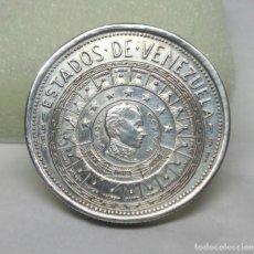 Monedas antiguas de América: MONEDA MEDALLA DE PLATA, ESTADOS DE VENEZUELA (LARA) - MEDIDA 3 CM - PESO 15 GR.. Lote 170402984