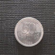 Monedas antiguas de América: BRASIL 50 CENTAVOS 1994 KM635. Lote 170433748