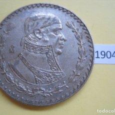 Moedas antigas da América: MEXICO 1 PESO 1959 PLATA. Lote 171062724