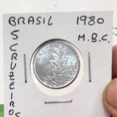 Monedas antiguas de América: MONEDA BRASIL 5 CRUZEIROS 1980. Lote 171113660