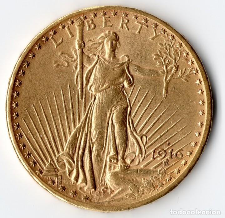 USA $20 1916 SAN FRANCISCO SAINT-GAUDENS (Numismática - Extranjeras - América)