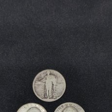 Monedas antiguas de América: ¼ DÓLAR LIBERTY EN PIE S/F -WASHINGTON 1937-1941-1945-1948-1952 PLATA 0.900, 6.25G, Ø 24.26MM. Lote 171701329