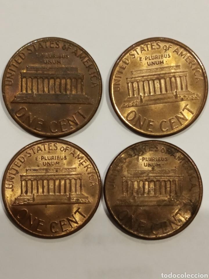 Monedas antiguas de América: Lote monedas USA. One cent . Ver foto - Foto 2 - 171708180