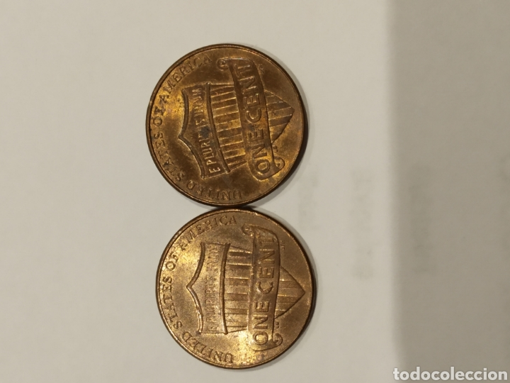 Monedas antiguas de América: Lote 2 monedas one cent 2013 y 2014 . Ver foto - Foto 2 - 171708388