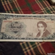 Monedas antiguas de América: 100 ESCUDOS CHILE AÑOS 60-70. Lote 171712822