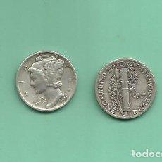 Monedas antiguas de América: MONEDA DE PLATA DIME 1942 MONEDA DE 2,5 GRAMOS DE LEY 0,900. Lote 171807919