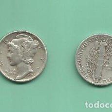 Monedas antiguas de América: MONEDA DE PLATA DIME 1944 MONEDA DE 2,5 GRAMOS DE LEY 0,900. Lote 171809458