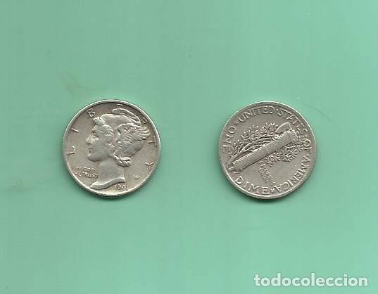 MONEDA DE PLATA DIME 1941 MONEDA DE 2,5 GRAMOS DE LEY 0,900 (Numismática - Extranjeras - América)