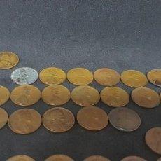 Monedas antiguas de América: ONE CENT. (LOTE DE 78 MONEDAS) DESDE 1929 A 1996. Lote 171809933