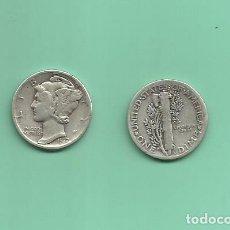 Monedas antiguas de América: MONEDA DE PLATA DIME 1937 MONEDA DE 2,5 GRAMOS DE LEY 0,900. Lote 171813404